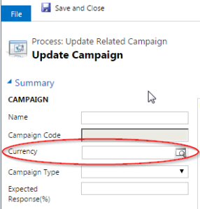 Update read-only fields in a dynamics crm workflow