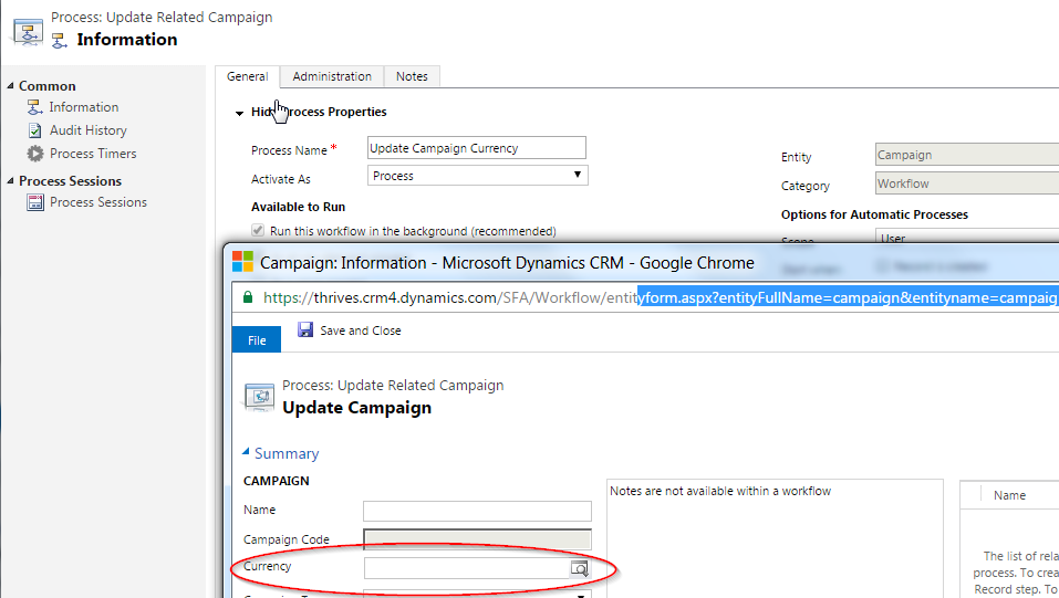Updating read-only lookup fields in the Dynamics CRM Workflow Designer