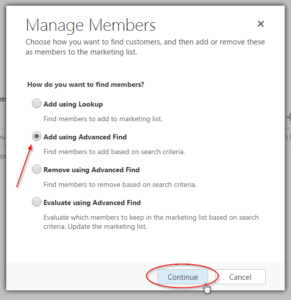 Add List Members to Dynamics CRM