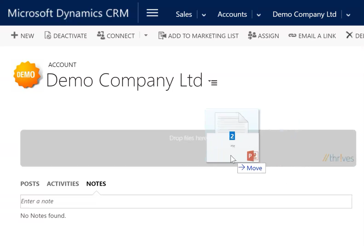 Drag & Drop functionalities within Dynamics CRM